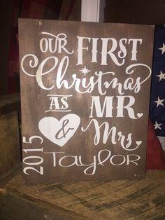 11 14 x 14 Mr Mrs Wood Sign Rustic Charm Shabby Decor 2016 Date | eBay