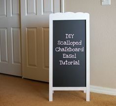 DIY: Scalloped Chalkboard Easel Tutorial - perfect for a playroom!