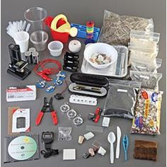 Complete Science kits by grade ...good ideas.