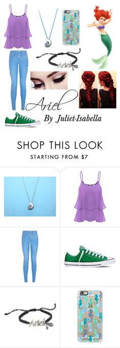 """Ariel 🌊🐳🐬🐠"" by juliet-isabella ❤ liked on Polyvore featuring New Look, Converse, Disney and Casetify"