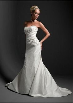 TAFFETA MERMAID TRUMPET STRAPLESS WEDDING DRESS LACE PARTY BALL EVENING COCKTAIL GOWN IVORY WHITE FORMAL PROM