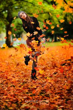 #543 the sound of fallen autumn leaves crunching under your feet.