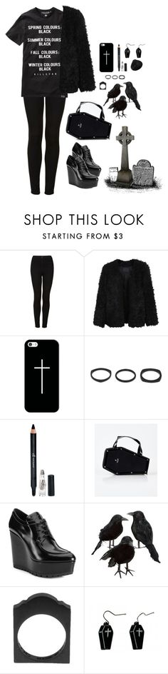 """""""Untitled #375"""" by void-witch ❤ liked on Polyvore featuring Topshop, LE3NO, Casetify, Vitaly, e.l.f., Prada, Mister and Hollywood Mirror"""