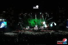 Mi segundo reci de Green Day. Pepsi Music 2010. Excelente!