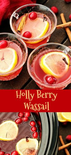 Holly berry wassail is perfect for the holidays. It has cranberry juice and lemon, making it a great way to detox after the holiday treats.  This Holly berry wassail recipe makes a nice warm drink for this cold winter weather that we are having. This morning it was a big 28 degrees. I knew that this would be the perfect drink, as we are going to Salt Lake City tonight to see the lights at Temple Square. This drink is such a nice way to warm up from the inside out!!!