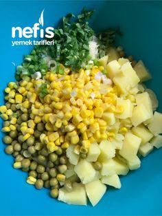 Köz Biberli Ve Soslu Enfes Patates Salatası - Nefis Yemek Tarifleri Vegetables, Food, Veggie Food, Vegetable Recipes, Meals, Veggies