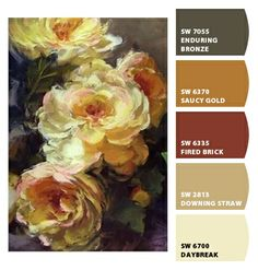 Paint colors from Chip It! by Sherwin-Williams. roses flowers stil-life Kurt Anderson. ChipCard by Reni Apostolova