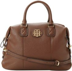 This is for those who needs a roomy bag for everyday. Tommy Hilfiger Women's Keepsake Pebble Bowler Top Handle Mocha Bag