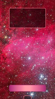 ↑↑TAP AND GET THE FREE APP! Lockscreens Art Creative Space Stars Red Pink HD iPhone 6 Plus Lock Screen