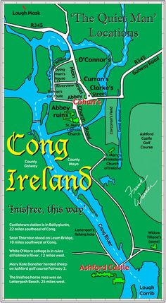 Map of Cong Ireland Inisfree
