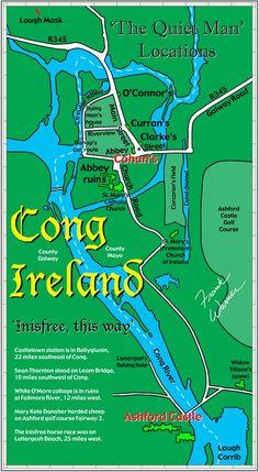 Map of Cong Ireland Inisfree