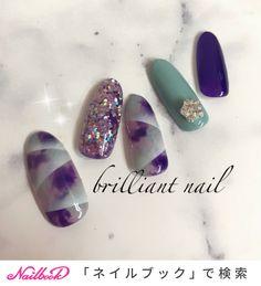冬/パーティー/ハンド/グラデーション/ラメ - brilliantnailのネイルデザイン[No.3749519]|ネイルブック Japanese Nail Art, Jam And Jelly, Design