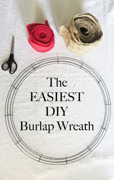 This DIY Burlap Wreath is super easy to make and is something you can hang all year long.