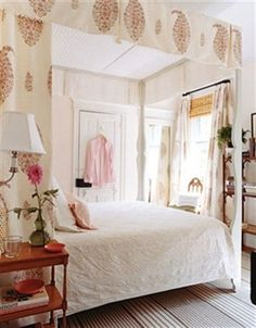 serene feminine bedroom with pink accents, Tom Sheerer