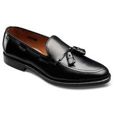 Grayson with Combination Tap Sole - Moc-toe Slip-on Mens Dress Shoes by Allen Edmonds