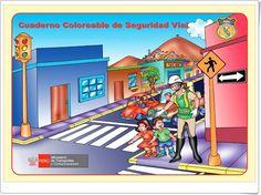 """""""Cuaderno coloreable de Seguridad Vial"""" Ideas Para, Family Guy, Cultural, Acrylics, Paintings, 3d, Canvas, Socialism, Science Area"""