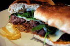 Beer braised beef sandwich