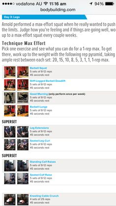 Arnold schwarzenegger blueprint workout day 1 arnold arnold schwarzenegger workout legs day 3 malvernweather Choice Image