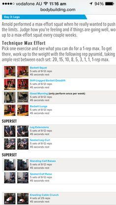 Arnold schwarzenegger 6 day workout plan sport fatare 1000 images arnold schwarzenegger 39 s blueprint to cut training malvernweather Gallery