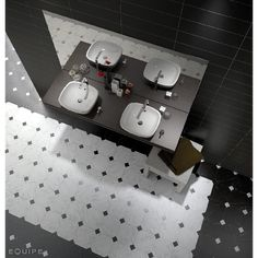 Carrelage octogonal marbré à cabochons 20x20 MARMOL BLANC- 1m²