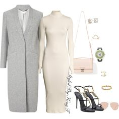 A fashion look from December 2014 featuring H&M dresses, Whistles coats and Giuseppe Zanotti shoes. Browse and shop related looks.