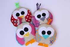 boo boo bags :) filled with flaxseed and can be used heated or kept in the freezer for little boo boo's :) need to make some of these, not just in owls!