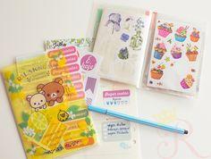 Organização de stickers adesivos