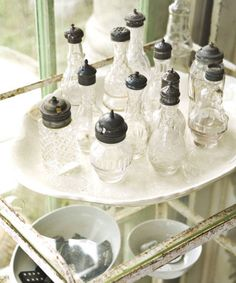 Industrial art, architectural remnants, and 19th-century antiques abound at this popular, 350-plus dealer show in Round Top, Texas, which kicks off a few days after summer's official close.  Pictured: Shoppers nab feminine silver-topped shakers for $20 and up at Marburger.   (September 30-October 4, 2014; roundtop-marburger.com)