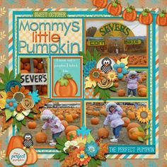 Layout using {The Perfect Pumpkin} Digital Scrapbook Kit by Amy Stoffel available at Gingerscraps http://store.gingerscraps.net/The-Perfect-Pumpkin.html #amystoffel