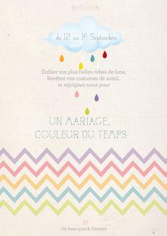 Rainbow wedding invitations