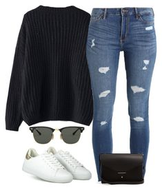 """#298"" by mintgreenb on Polyvore featuring Hollister Co., Ray-Ban and PB 0110"
