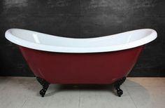 WENTWORTH Dble. Highback Red/Black, Claw Foot Baths