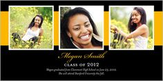 Band Of Memories Graduation Announcement