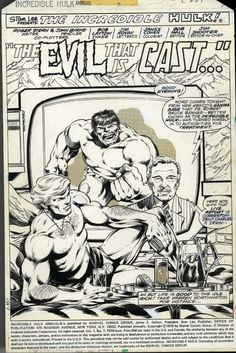 The Incredible Hulk King-Sized Annual From 1978 Splash Page by John Byrne Comic Book Pages, Comic Page, Comic Book Artists, Comic Artist, Comic Books Art, Marvel Art, Marvel Comics, John Byrne, Splash Page