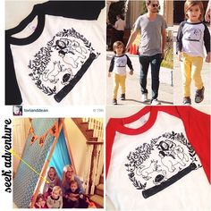 Mini Celebrity Sightings - Mason Disick ( Scott Disick & Kourntey Kardshian ) and Liam McDermott  (Dean McDermott & Tori Spelling ) spotted wearing their Loved By Hannah And Eli apparel  www.lovedbyhannahandeli.bigcartel.com