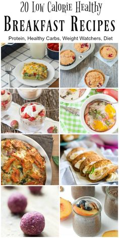 Starting the day with a healthy, low calorie breakfast is easy with these breakfast recipes.