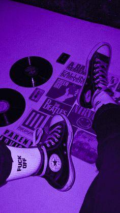 Violet Aesthetic, Dark Purple Aesthetic, Lavender Aesthetic, Aesthetic Colors, Aesthetic Collage, Retro Aesthetic, Neon Purple, Purple Walls, Purple And Black
