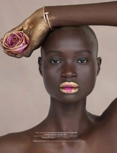 "Cover of ""As If"" magazine Model: Ataui Deng So pretty!"