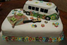 60's flower power hippie van made by lerrin@sweetart