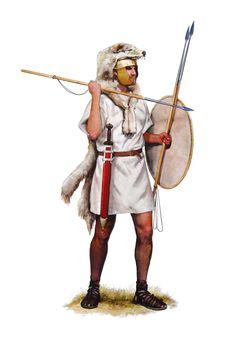 Velite avec une peau de loup, vers 200 av.J.C.