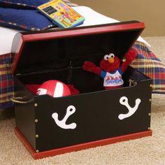 Just Kids Stuff Pirate Toy Chest: Kids' & Teen Rooms : Walmart.com
