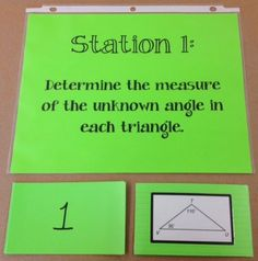 Creating a Math Learning Station