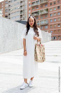 #streetstyle #mfw white shirtdress Milano image by StunningStreetstyle