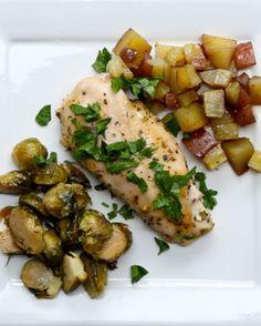 ハニーガーリックチキン | オーブンにおまかせ!たっぷり野菜の簡単親子クッキング