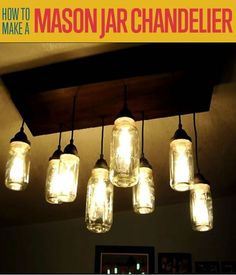 Want to know how to make a mason jar chandelier? Mason jar crafts are fun to make. If you want a mason jar lights project, this tutorial is for you!