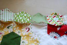 badskirt: Finishing Your Hexagon Quilts Tutorial