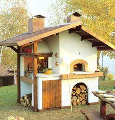 Dettagli su barbecue in muratura a legna con acquaio - Camini da esterno in muratura ...