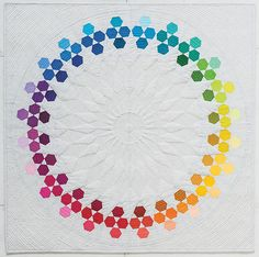 A White Rainbow Quilt & GIVEAWAY - 13 Spools