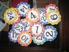 Super CUTE Numbers free for printing. I copied them as a jpeg file then reduced the size. I then applied each block of numbers to a self-adhesive magnetic sheet and cut out ea number. Now they are ready for my magetic calendar board!
