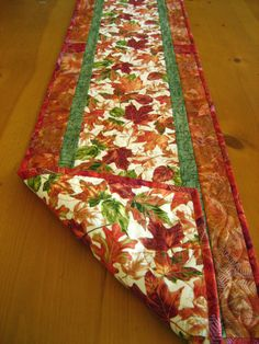 Autumn Blaze Quilted Table Runner.